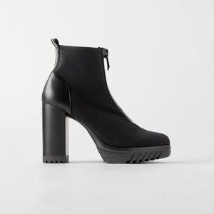 Zara Heeled Lug Sole Ankle Boots
